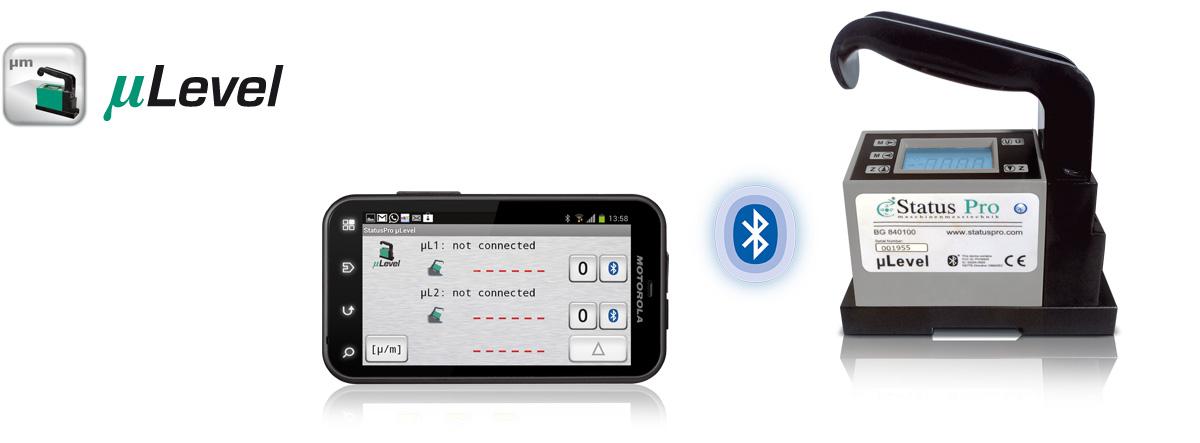 �Level System mit Android basiertem Smartphone und Bluetooth-Verbindung