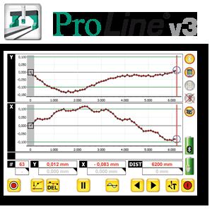 Software zur Linearit�tsmessung, Laser, Ebenheitsvermessung, Protokokollierung, PC
